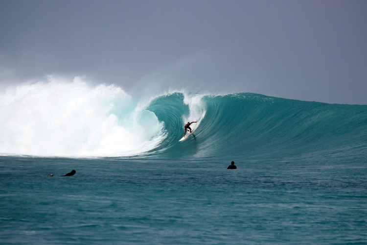 No Kandui: when this wave is breaking perfectly, the atmosphere is breathtaking | Photo: Gustavo Rojas