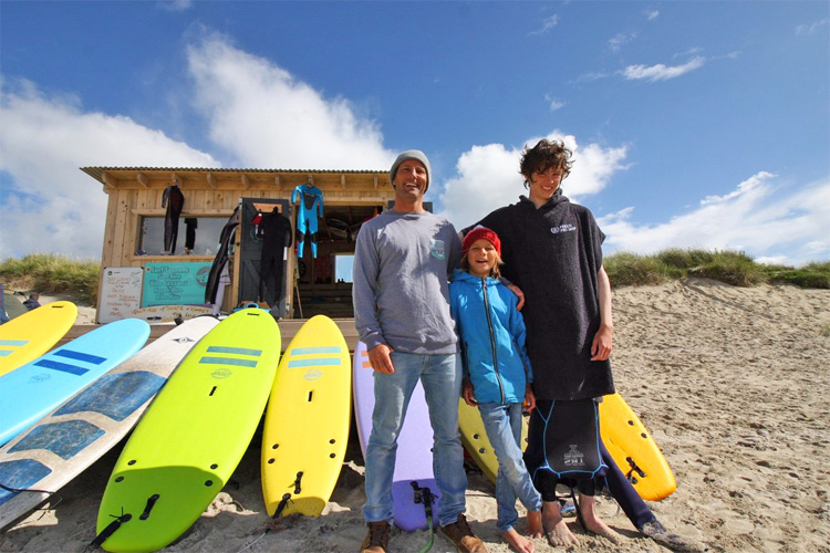 Balevullin Beach, Tiree: this wooden surf hut provides shelter to dozens of local surfers | Photo: Blackhouse Watersports