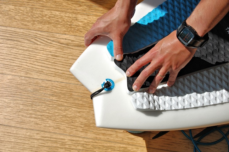 Installing surfboard traction pads: details matter | Photo: SurferToday.com