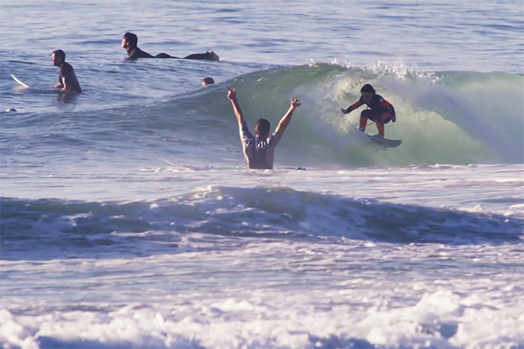 Quincy Symonds: getting barreled at six years of age