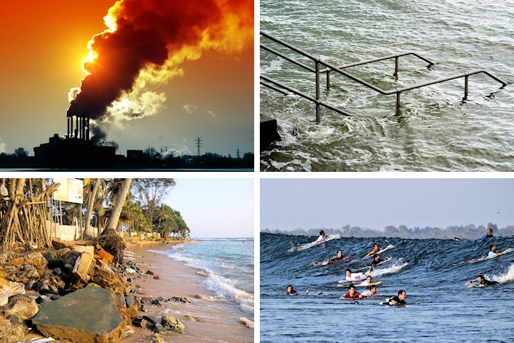 The biggest threats to surfing: global warming, sea level rise, coastal erosion, and localism