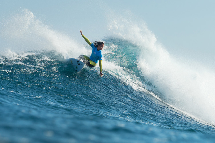 Courtney Conlogue: getting into the top seeds | Photo: Cestari/WSL