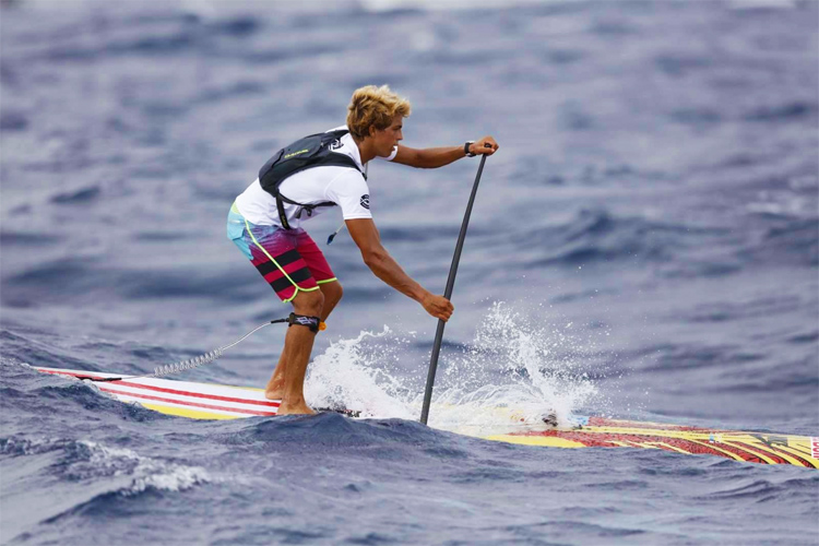 Kai Lenny: winner of the 20th Molokai 2 Oahu Paddleboard World Championships | Photo: M2O