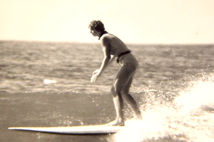 Gwyn Haslock: still surfing after all these years