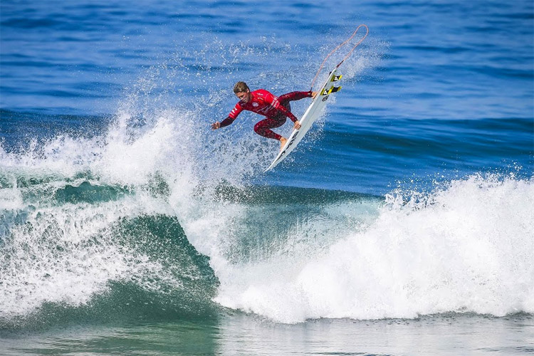 Jesse Mendes: a dream run in Guincho | Photo: WSL