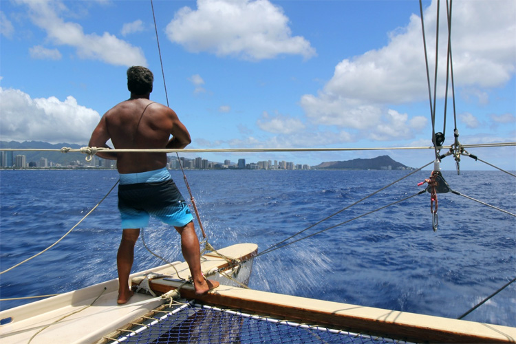 Bruce Blankenfeld: the PWO Navigator of Hokulea | Photo: Hokulea.com